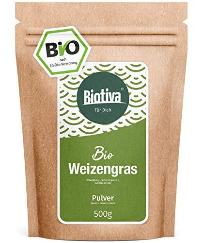 Weizengras Bio 500g - Weizengrasspulver - Junges,...