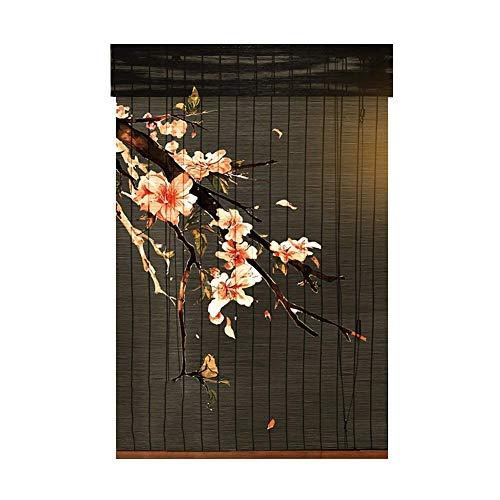 XZPENG Bambusvorhang Druck Study Dekoration Cut...