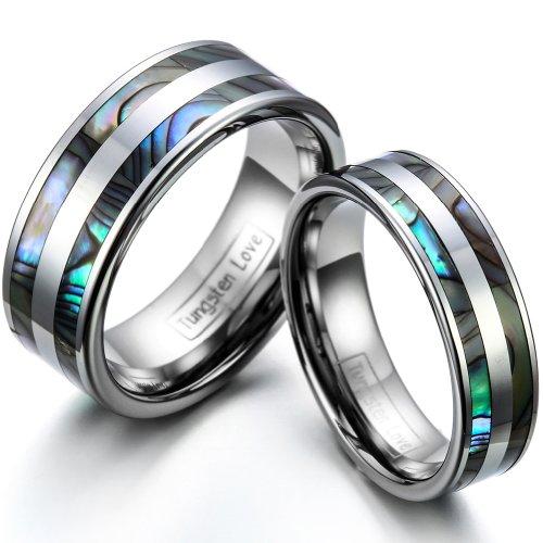 JewelryWe Schmuck 1 Paar Wolfram Wolframcarbid...