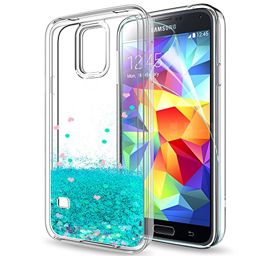 LeYi Hülle Galaxy S5 Glitzer Handyhülle mit HD...