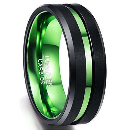 Ring Hochzeit Damen/Frauen schwarz-grün Nuncad...