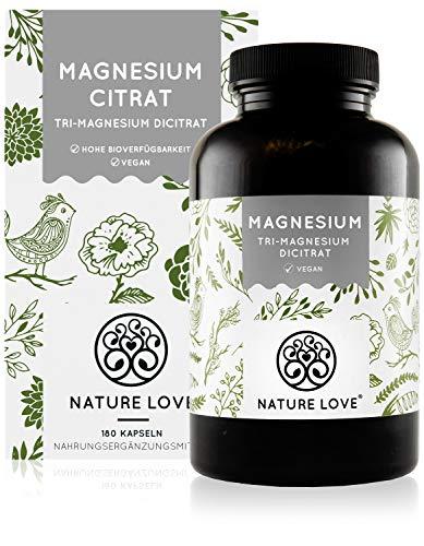 NATURE LOVE® Premium Magnesiumcitrat - 2250mg...