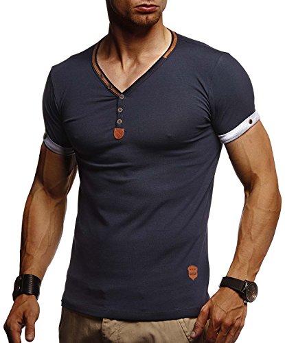 Leif Nelson Herren T-Shirt V-Ausschnitt Sweatshirt...