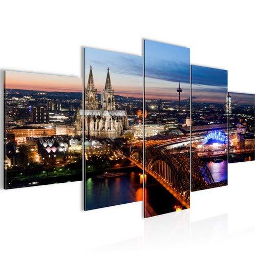 Bilder Köln Wandbild 200 x 100 cm Vlies -...