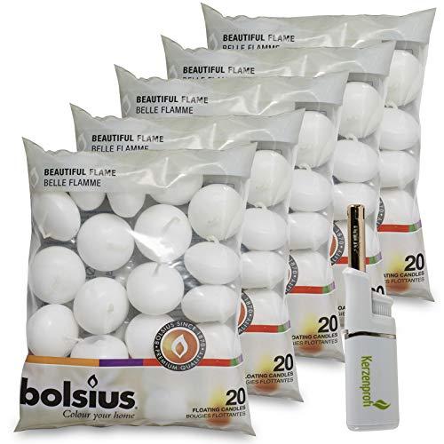 DecoLite: 100 Schwimmkerzen von Bolsius mit 4,5h...