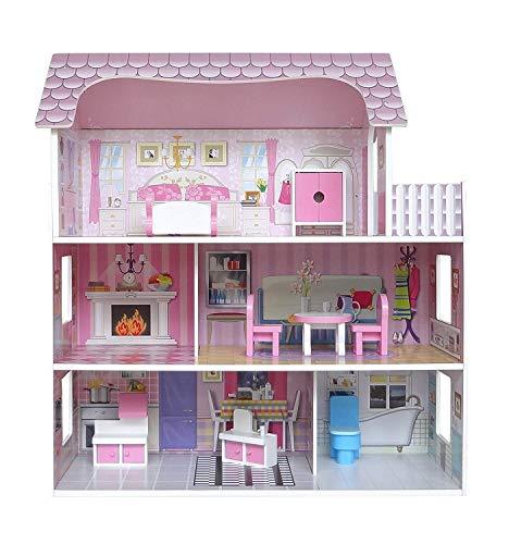 Kiddi Style Viktorianisches Puppenhaus aus Holz...