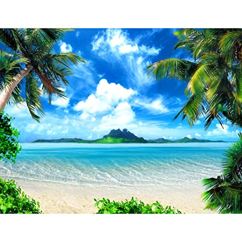 Fototapeten Strand Meer Palmen 352 x 250 cm Vlies...