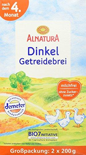 Alnatura Bio Dinkel-Getreidebrei, 4er Pack (4 x...