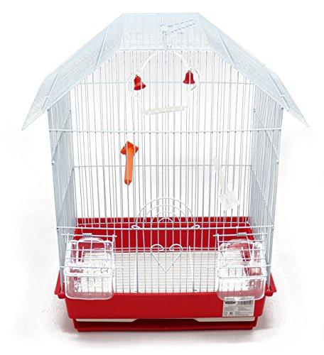 BPS Metall-Vogelkäfig mit Vogelfutterstation...
