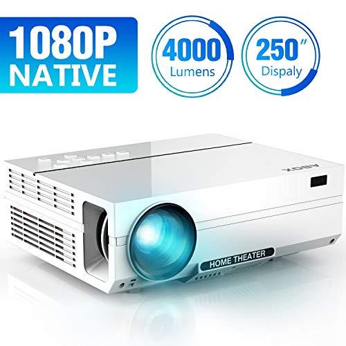 ABOX 4000 Lumen Beamer, Native 1080p (1920 x 1080)...