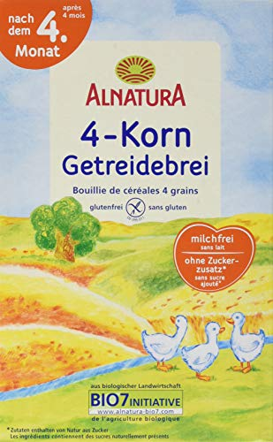 Alnatura Bio 4-Korn Getreidebrei, 250 g