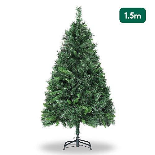 SALCAR Weihnachtsbaum künstlich 150cm mit 408...