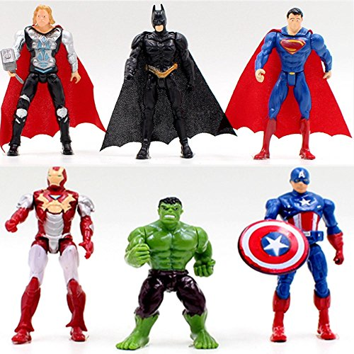 6 Sets Superhelden Avengers Iron Man Hulk Captain...