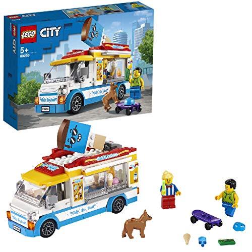 LEGO 60253 Eiswagen City Spielzeug mit Skater- und...
