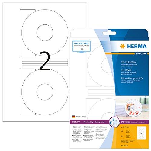 HERMA 5079 CD-/DVD-Etiketten inkl....