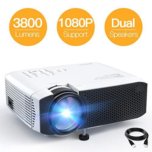 Beamer APEMAN Mini Beamer 3800 Lumen 1080P Full HD...