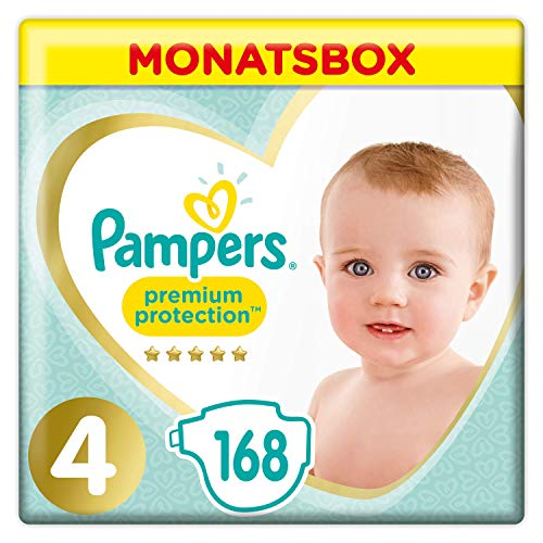 Pampers Premium Protection Windeln, Gr. 4,...