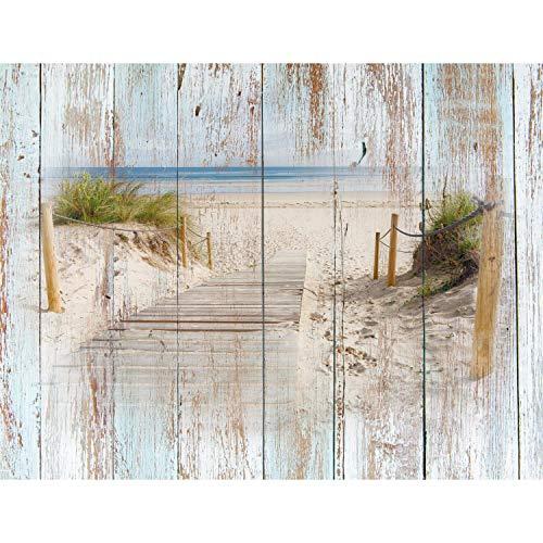 Fototapeten Strand Holzoptik 352 x 250 cm Vlies...