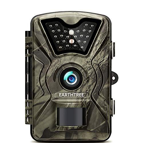 EARTHTREE Wildkamera,14MP 1080P Full HD Jagdkamera...