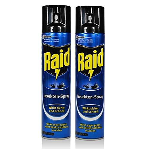 2x Raid Insekten-Spray 400 ml - Wirkt sicher und...