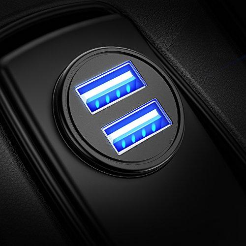 DIVI Auto Ladegerät, Mini Zigarettenanzünder USB...