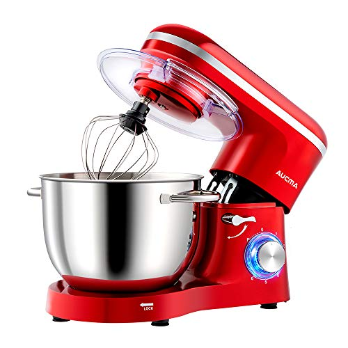 Aucma Küchenmaschine Knetmaschine 1400W, 6.2L...