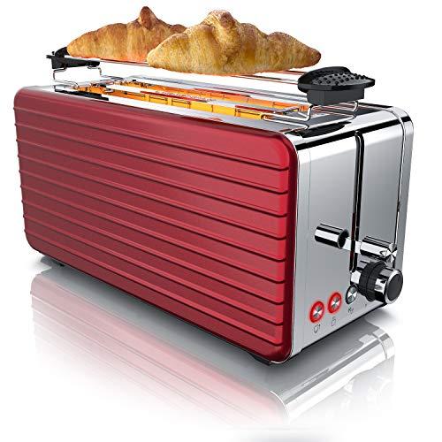 Arendo - Automatik Toaster Langschlitz 4 Scheiben...