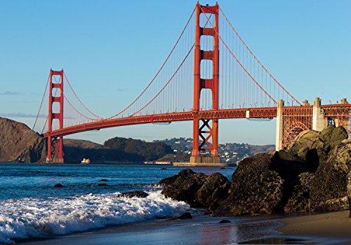 wandmotiv24 Fototapete Golden Gate Bridge USA...