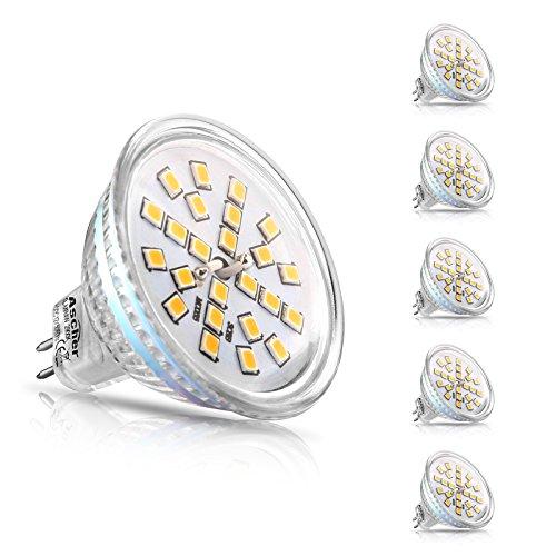 Ascher 5er Pack MR16 GU5.3 LED Lampen, 400lm,...