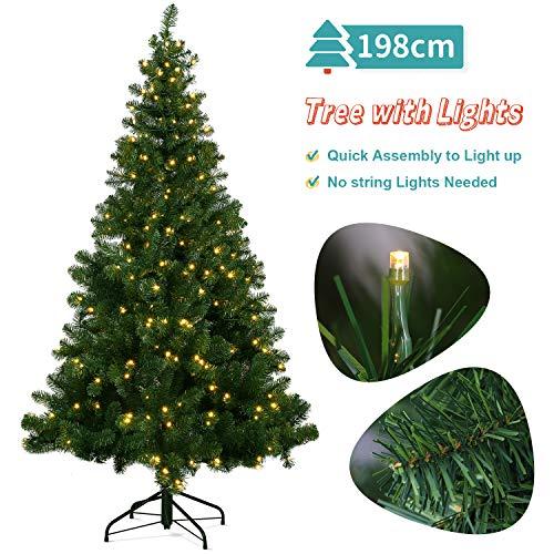 OUSFOT Weihnachtsbaum Künstlich 198cm mit 320er...