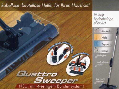 Staubsauger Akku Quattro Kehrbesen mit 4tlg....