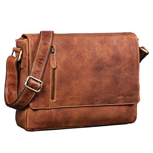 STILORD 'Davis' Messenger Bag Leder 13 Zoll Laptop...