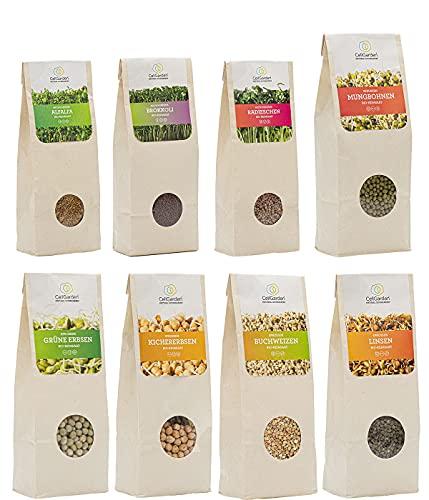 Cell Garden® 3,1kg Bio Sprossen Samen Set 8...