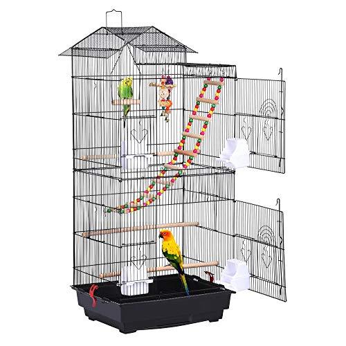 Yaheetech Vogelkäfig mit Vogelspielzeuge...
