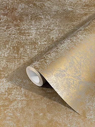 marburg Tapete Gold Uni Modern Klassisch Opulent...