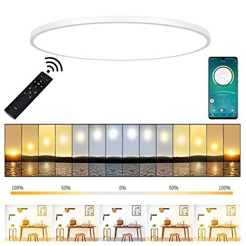 ERWEY 50cm LED Panel Ultraslim Deckenlampe Rund...