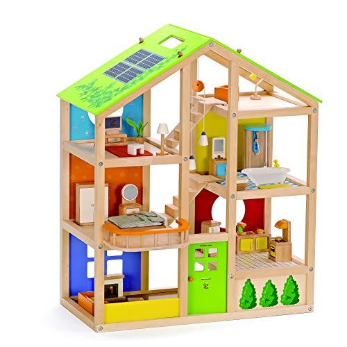 Hape E3401 - Vier-Jahreszeiten Haus (möbliert),...