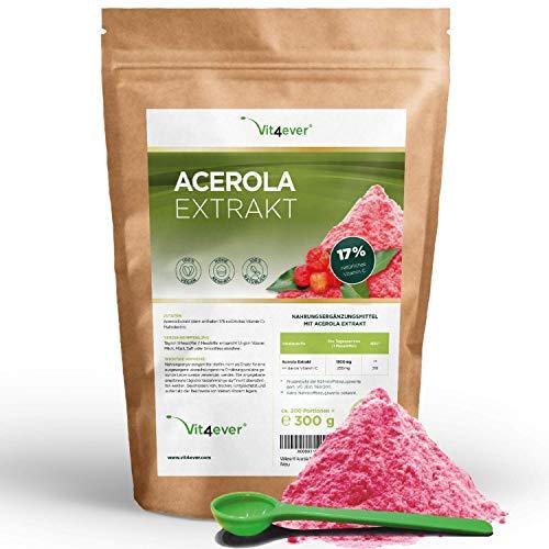 Vit4ever Acerola Pulver - 300 g - Natürliches...