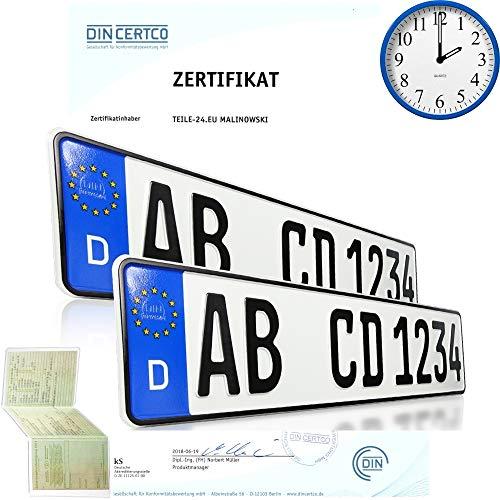 2 x EU KFZ Nummernschilder Autoschilder...