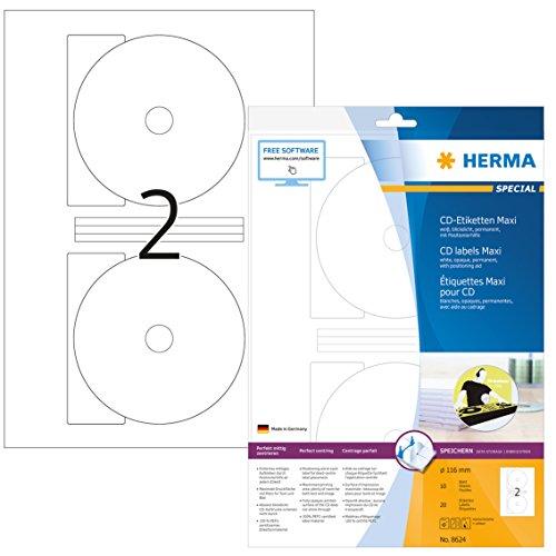 HERMA 8624 CD-/DVD-Etiketten inkl....