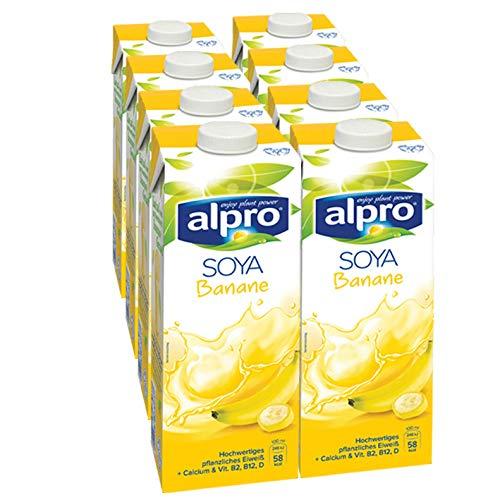 Alpro Sojadrink Banane, 1 Liter, 8er Pack
