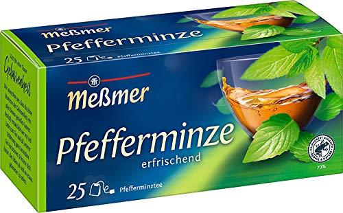 Meßmer Pfefferminze I 25 Teebeutel I Vegan I...