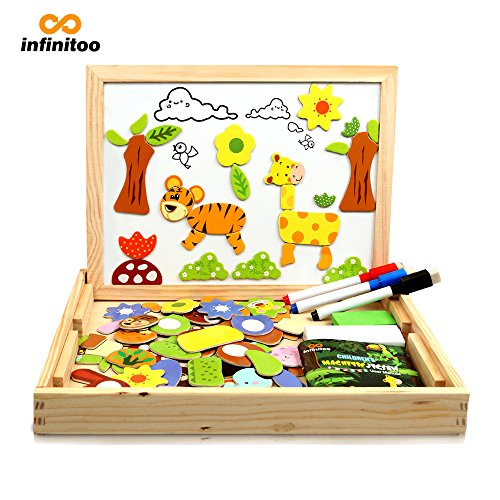 infinitoo Magnetisches Holzpuzzle mit...