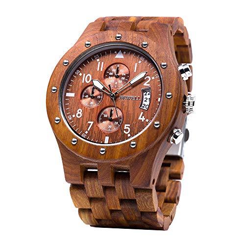 BEWELL Uhren Aus Holz Herrenuhr Chronograph...
