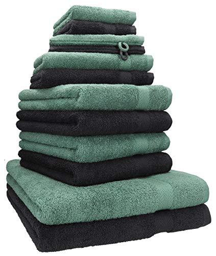 Betz 12-TLG. Handtuch Set Premium 100% Baumwolle 2...