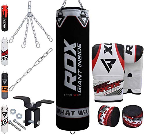 RDX Boxsack Set Gefüllt Kickboxen MMA Muay Thai...