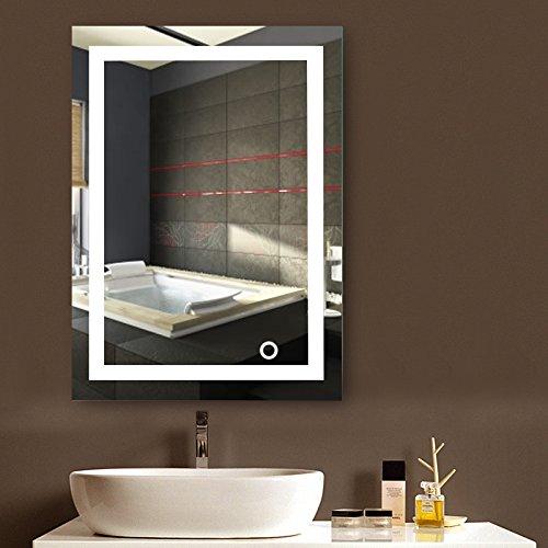 MUPAI Badspiegel LED Badezimmerspiegel Beleuchtet...
