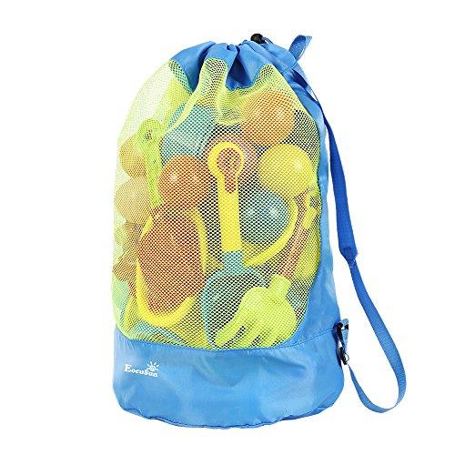 Strandspielzeug Tasche Strandtasche Mesh Beach Bag...