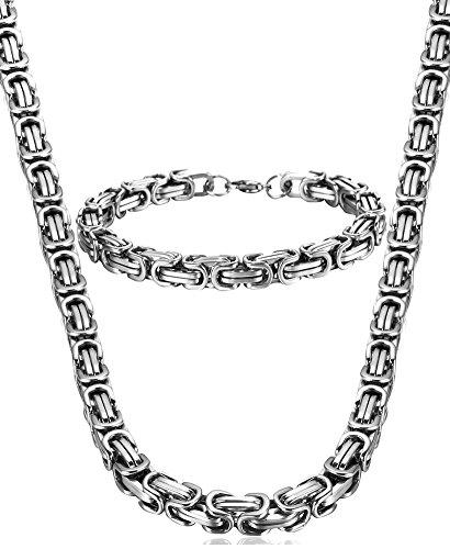 Jstyle Edelstahl Ketten Set von Halsketten und...