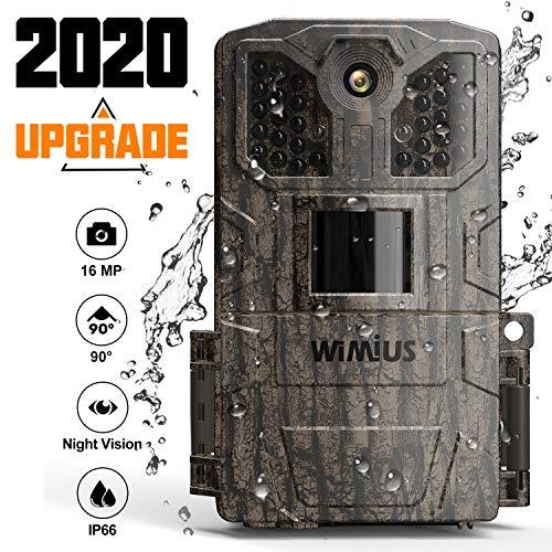 WiMiUS Wildkamera 16MP 1080P mit Bewegungsmelder...
